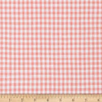 100% European Linen Gingham Shirting Coral