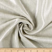 Shirting Weight Linen Oatmeal/Silver Metallic