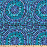 "Kaffe Fassett 108"" Quilt Backs Fruit Mandala Blue"