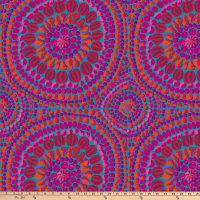 "Kaffe Fassett 108"" Quilt Backs Fruit Mandala Pink"