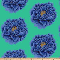 "Kaffe Fassett 108"" Quilt Backs Full Bloom Blue"