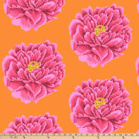 "Kaffe Fassett 108"" Quilt Backs Full Bloom Pink"