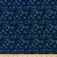 Paintbrush Studio Fabrics Bloom Dandelions Royal/Aqua
