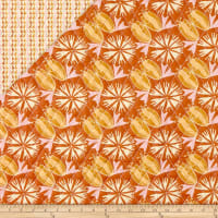Paintbrush Studio Fabrics Bloom Pre-Quilted Tulips & Flowers Orange/Tan