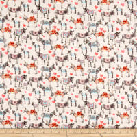 Paintbrush Studio Fabrics Croatia Donkey Love Tan