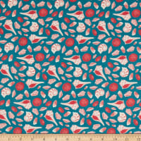 Paintbrush Studio Fabrics Gulls Just Wanna Have Fun Seashells Teal/Coral