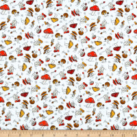 Paintbrush Studio Fabrics Menagerie Forest Mushrooms Grey