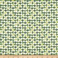 Paintbrush Studio Fabrics Menagerie Leaves Green