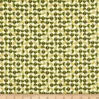 Paintbrush Studio Fabrics Menagerie Leaves Orange/Yellow