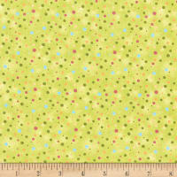 Paintbrush Studio Fabrics Ubuntu Multi Sized Multicolored Dots Olive