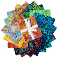 Kaufman Artisan Batiks Fat Quarter Bundle Totally Tropical