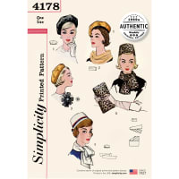 Simplicity 4178 Misses' Vintage 60s Accessories OS (One Size)