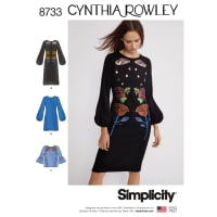 Simplicity 8733 Misses' Cynthia Rowley Dress and Top P5 (Sizes 12-20)