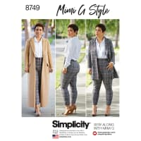 Simplicity 8749 Misses'/Women's Mimi G Style Coat and Pants AA (Sizes 10-18)