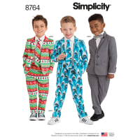 Simplicity 8764 Boys' Suit and Ties A (Sizes 3-4-5-6-7-8)