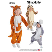 Simplicity 8765 Toddlers' Costumes A (Sizes 1/2-1-2-3-4)