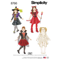 Simplicity 8766 Children's Costumes A (Sizes 3-4-5-6-7-8)