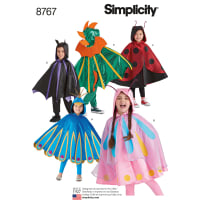 Simplicity 8767 Children's Cape Costumes A (S-M-L)