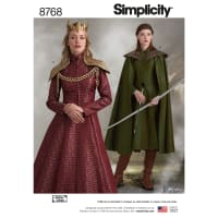 Simplicity  8768 Misses' Fantasy Costumes H5 (Sizes 6-14)