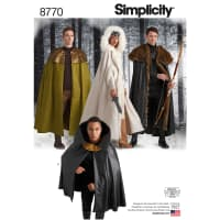 Simplicity  8770 Unisex Costume Capes OS (One Size)
