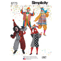 Simplicity  8773 Misses', Men's and Teens' Costumes A (XS-S-M-L-XL)