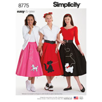 Simplicity  8775 Misses' Costumes HH (Sizes 6-12)