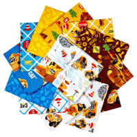 Riley Blake Designs Cat Buildin' Crew Fat Quarter Bundle, 12 Pcs.