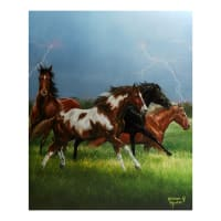 "Back In The Saddle Horse Power Panel 43"" X 36"""