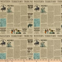 Cowboy Country Newsprint Cream