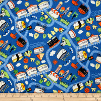 Trans-Pacific Textiles Oriental Sushi Train Toro-Blue