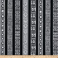 Shawn Pahwa African Print DTY Brushed Lungile White/Black