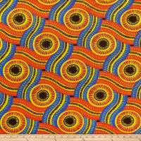 Shawn Pahwa African Ankara Print DTY Brushed Olothando Orange/Yellow