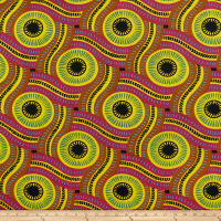 Shawn Pahwa African Print DTY Brushed Olothando Magenta/Yellow