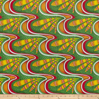 Shawn Pahwa Kente African Print ITY Kwazulu Green/Yellow