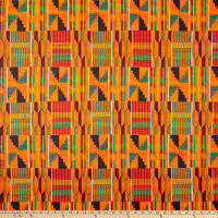 Shawn Pahwa African Print Dumisani Orange/Green