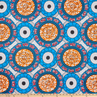 Shawn Pahwa African Print Celankobe Blue/Orange