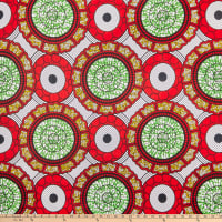 Shawn Pahwa African Print Celankobe Red/Green