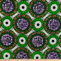Shawn Pahwa African Print Celankobe Green/Purple