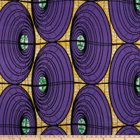 Shawn Pahwa African Print Umzuzu Purple/Yellow