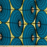Shawn Pahwa African Print Umzuzu Blue/Yellow