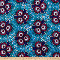Shawn Pahwa African Print Esasa Turquoise/Purple