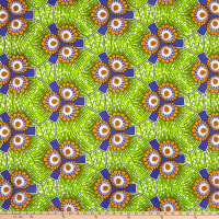 Shawn Pahwa African Print Esasa Green/Purple