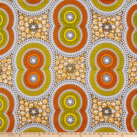Shawn Pahwa African Print Vala Orange/Yellow