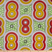Shawn Pahwa African Print Vala Yellow/Red