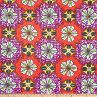 Shawn Pahwa African Print Mandlenkosi Orange/Purple