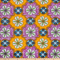 Shawn Pahwa African Print Mandlenkosi Yellow/Purple