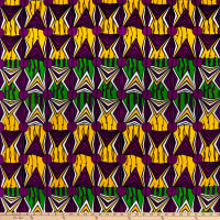 Shawn Pahwa African Print Mzwandile Purple/Green
