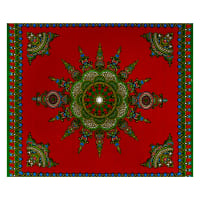 Shawn Pahwa African Print Gwazi Red/Green