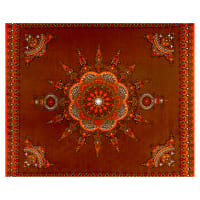 Shawn Pahwa African Print Gwazi Brown/Orange