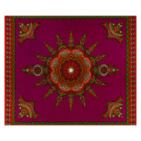 Shawn Pahwa African Print Gwazi Purple/Red